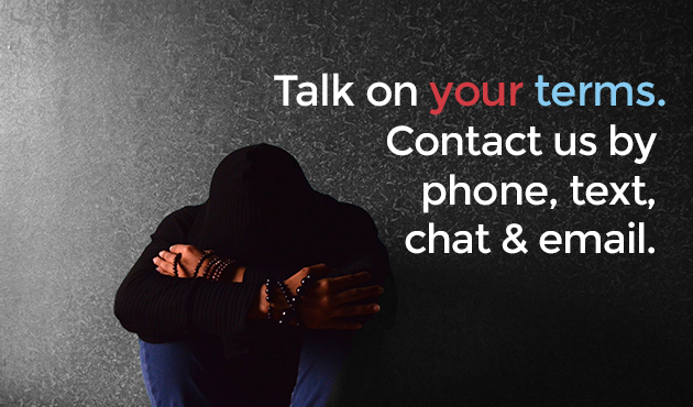 Talk on your terms. Contact ConnecTeen by phone, text, chat and email