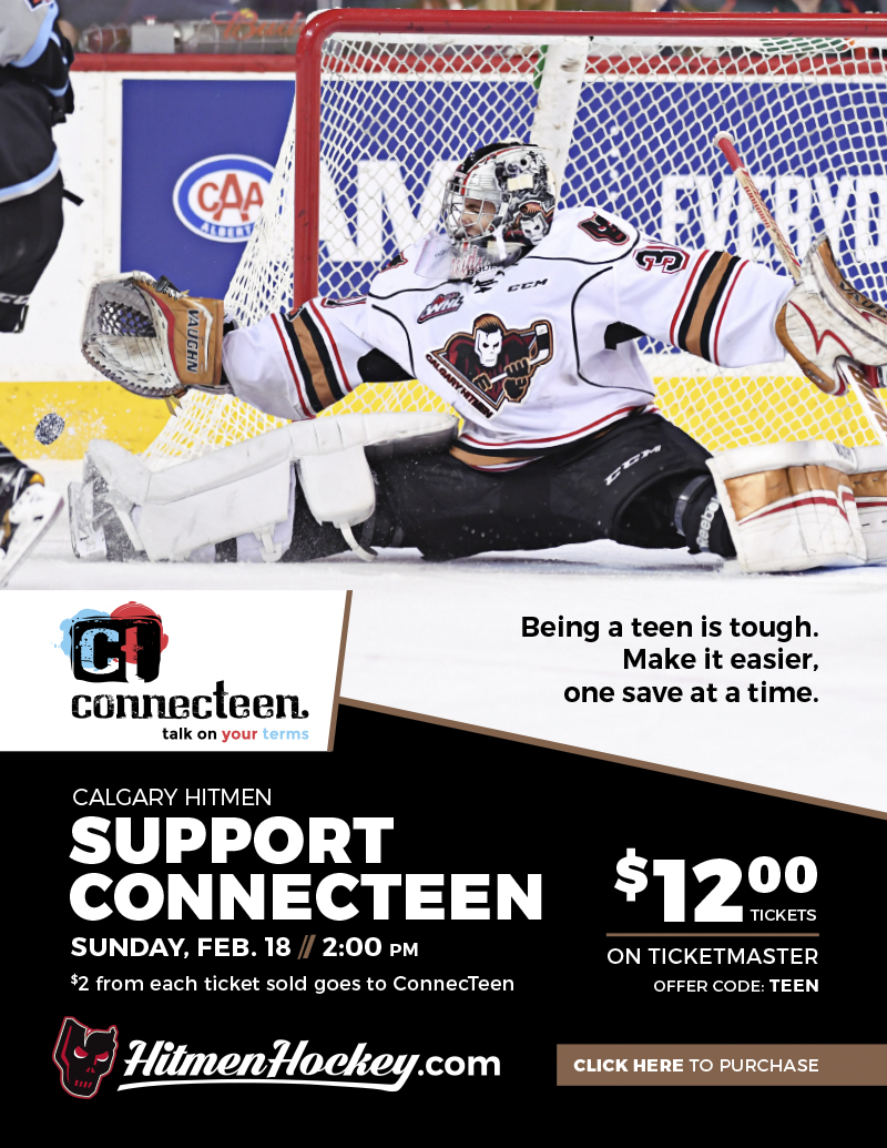 calgary hitmen connecteen hockey game march
